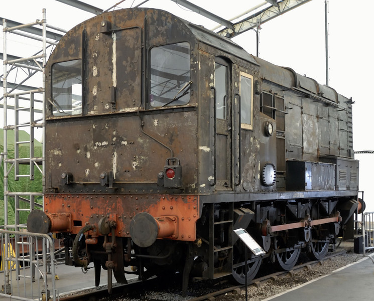 13079 [D3079, 08064], National Railway Museum, York, Sat 27 March 2010.  Built by BR at Darlington in 1953, and withdrawn in 1984.  One of 1,193 class 08 350hp 0-6-0 diesel-electric shunters.  A very long lived design with a number still at work in 2012.