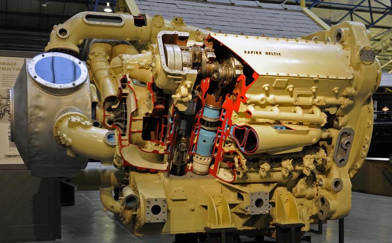 Deltic engine, National Railway Museum, York, Sat 22 December 2012