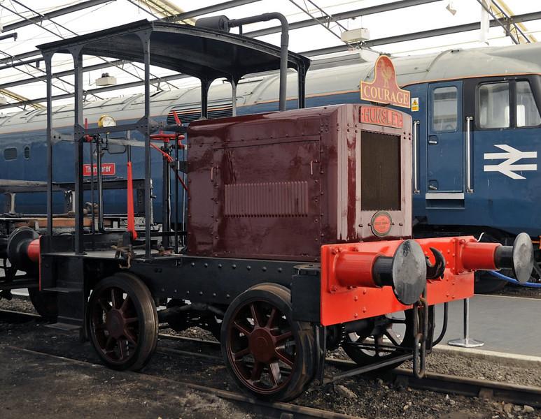 Courage, National Railway Museum, York, Sat 8 September 2012 1.  Standard gauge Hunslet 4wDM 1786 / 1935.