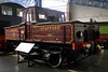 North Staffordshire Rly No 1, National Railway Museum, York, Sat 8 September 2012.  Battery loco built by the NSR at Stoke-upon-Trent in 1917.