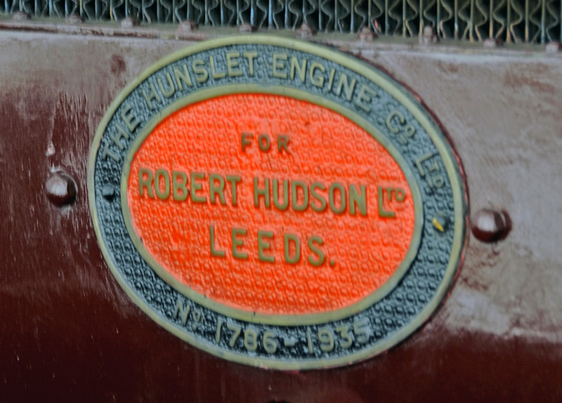 Courage, National Railway Museum, York, Sat 8 September 2012 2.  Robert Hudson Ltd were dealers in industrial railway equipment.  Courage was ordered through them for the Courage brewery at Alton, Hampshire.