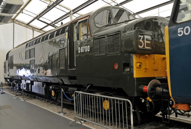 D6700 (37119, 37350), National Railway Museum, York, Sat 8 September 2012.  First of highly successful English Electric 1750hp Co-Co locos.  309 class 37s built 1960 - 1965, and some are still in service in 2012.  Withdrawn in 1998.