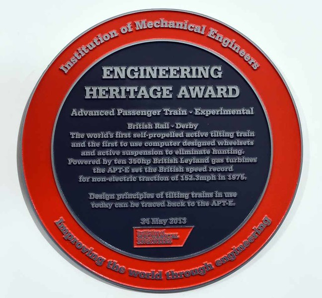 APT-E Engineering Heritage Award, Locomotion, National Railway Museum, Shildon, 26 September 2017