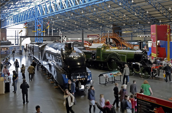 Welcome to the National Railway Museum, York! Sat 27 March 2010.  A view of the Great Hall.