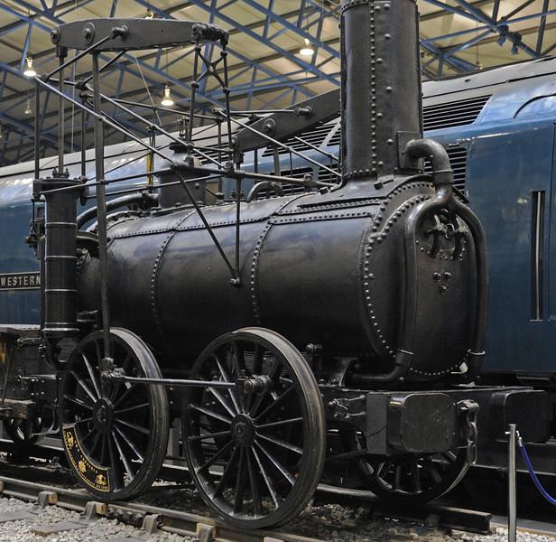 Agenoria, National Railway Museum, York, Sat 22 December 2012.  A closer look at this pioneer.