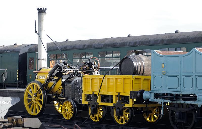 1979 Rocket replica, National Railway Museum, York, Sat 8 September 2012.  The replica takes water.