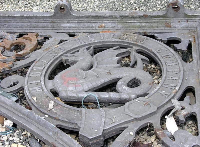 Midland Rly roof truss, National Railway Museum Railfest, York, 28 May 2004.