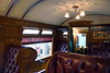 King's coach, Thamshavn Railway, Lokken, Norway, 21 July 2015 4.  The interior is elaborately decorated.  The railcar has never been in regular use, and is now available for hire.  The Thamshavn Railway stopped carrying ore in 1974 and is now a 22km long  heritage line, running from Lokken to Bardshaug, 3km short of Thamshavn.