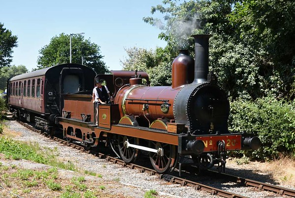 Bowing out!  Furness Railway No 20 spent its last day in traffic before overhaul on the Ribble Steam Railway on 8 July 2018.