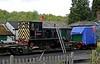 Southerham & Fonmon, Tunbridge Wells West, Sat 26 April 2014.  Southerham is Robert Stephenson & Hawthorns 0-4-0DM 7924 / 1959.  Fonmon is Peckett 0-6-0ST 1636 / 1924.