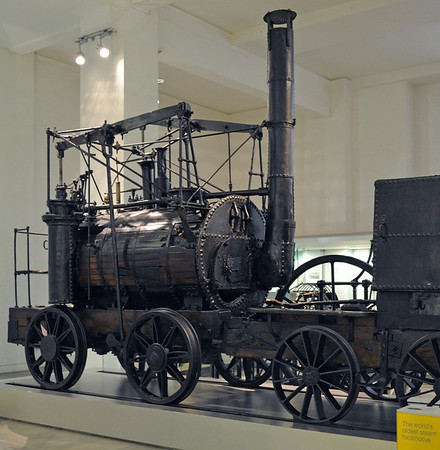 Puffing Billy, Science Museum, London, 26 April 2013 1.  The oldest loco in the world! Puffing Billy was built in 1814 by William Hedley to haul coal on the horse tramway from Wylam to the river Tyne at Lemington, west of Newcastle