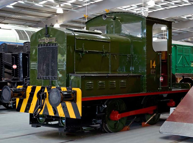 No 14, Locomotion, National Railway Museum, Shildon, 23 April 2005.  Armstrong Whitworth 0-4-0DE D21 / 1933.