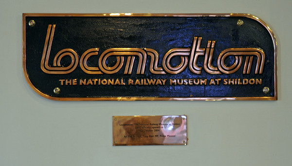 Welcome to Locomotion, the National Railway Museum at Shildon!  Mon 8 October 2012.  Locomotion was opened in 2004 by Tony Blair, then MP for the neightbouring constituency of Sedgefield.  The museum includes buildings associated with Timothy Hackworth and the Stockton & Darlington Rly, and houses some of the exhibits for which the NRM has no space at York, especially those associated with north east England - 'the cradle of railways'.
