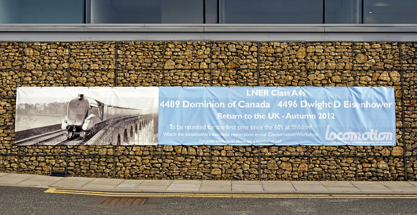 60010 Dominion of Canada & 60008 Dwight D Eisenhower, Shildon, Mon 8 October 2012.