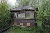 Eridge signalbox. Sat 26 April 2014.   The LBSCR box had been out of use since 1991, and was demolished in October 2015 so that the platform used by Southern trains could be lengthened,