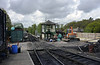 Tunbridge Wells West, Sat 26 April 2014.  Looking west towards Groombridge.  NB the signalbox under construction.