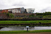 Welcome to the Summerlee Museum of Scottish Industrial Life, Coatbridge, 23 September 2016.  Looking over the Monkland Canal and the site of Summerlee ironworks to the modern exhibition building.