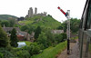 Approaching Corfe Castle from the south, 30 May 2008 - 1414