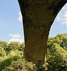 Causey Arch, Sun 11 September 2016 3.  The arch is 80 feet high and has a span of 105 feet.  It was the longest single-span stone bridge in Britain until the 140 ft Old Bridge was built at Pontypridd in 1756,