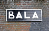 Bala station sign, Penybont, Thurs 25 August 2011.