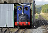 Holy War, Llanuwchllyn, Thurs 25 August 2011 - 1721.  Stabling the empty stock in the carriage shed.