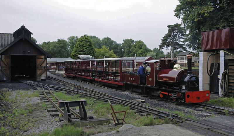 Alan Bloom, Bressingham, Sun 1 September 2013 1.  Awaiting departure on the 10.25 inch gauge Bressingham Garden Rly.