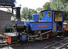St Christopher, Bressingham, Sun 1 September 2013.  15 inch gauge 2-6-2T built by the Exmoor Steam Rly 311 / 2001.  At Bressingham it works on the Waveney Valley Rly.