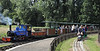 St Christopher & D5506, Bressingham, Sun 1 September 2013.  D5506 is running on a new dual gauge (5 / 7.25 inch) line.