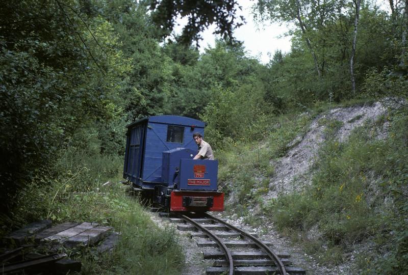 The Major, Brockham narrow gauge museum, 29 July 1978.  Orenstein & Koppel 7741 / 1937.  Photo by Les Tindall.