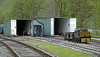 Derbyshire Dales Narrow Gauge Rly engine shed, Rowsley South, Sun 9 May 2010     The DDNGR is a two foot gauge line.