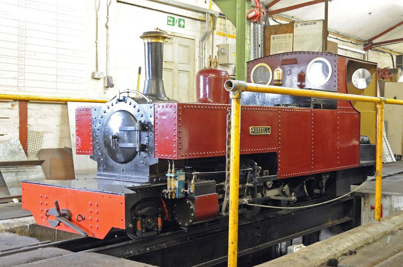 Russell, Fairbourne, Wed 24 August 2011.   A half size replica of the Welsh Highland 2-6-2T.  The prototype is now owned by the Welsh Highland Heritage Rly at Porthmadog.