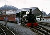 Linda, Porthmadog, 5 October 1974 2.  Awaiting departure to Dduallt.  Photo by Les Tindall.