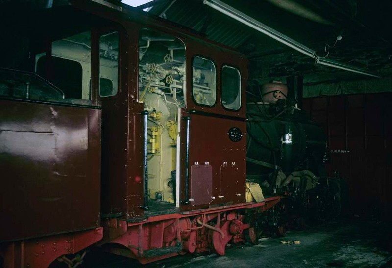 Deutsche Reichsbahn 99.3462, Boston Lodge, Porthmadog, 5 October 1974.  Orenstein & Koppel 0-8-0 12518 / 1934.  It came to Britain in 1970 but returned to Germany in 1978.  In 2017 it was at the Muskau Forest Railway in Saxony.  It was on loan from the Muhlenstroth Steam Railway, Gutersloh, where it ran as No 12 Mecklenburg.  Photo by Les Tindall.
