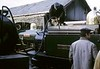 Blanche & Merddin Emrys, Boston Lodge, Porthmadog, 5 October 1974.  Photo by Les Tindall.