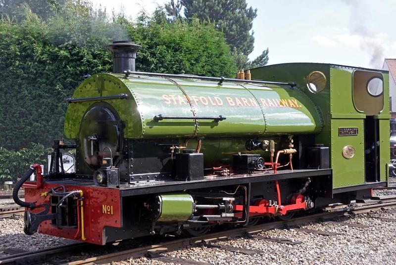 Harrogate No 1, Statfold Barn Railway, Sat 8 August 2015.  Peckett 0-6-0ST 2050 / 1944, 2ft gauge.