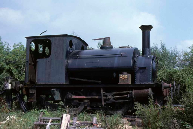 [Albert], Hollycombe Steam Centre, Liphook, West Sussex, 27 August 1978.  Hawthorn Leslie 0-4-0ST 2450 / 1899.  Still at Hollycombe in 2017 but now named Commander B.  Photo by Les Tindall.