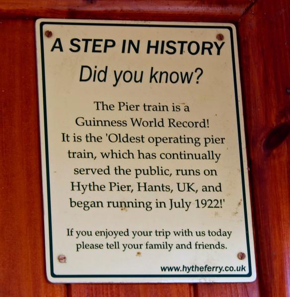 Hythe Pier Railway, 15 June 2008 6
