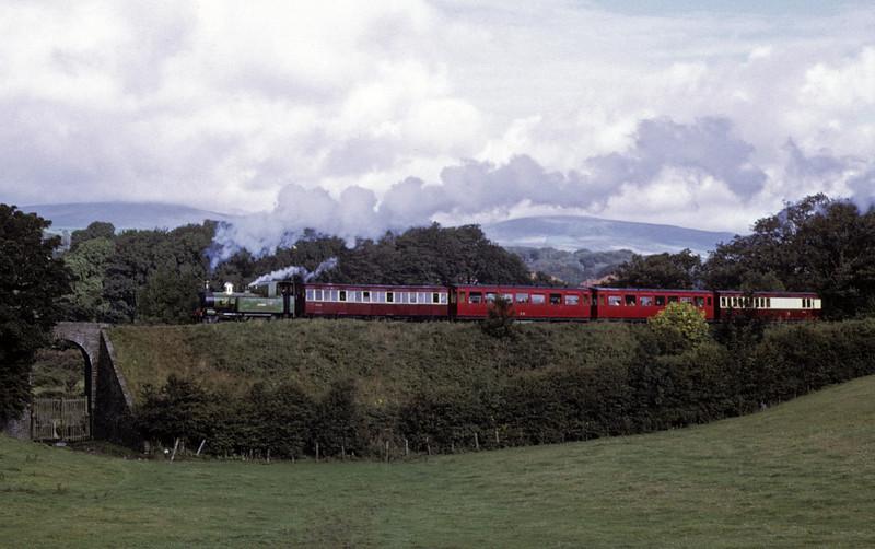 No 13 Kissack, leaving Douglas, 6 September 1974.  The 1015 Douglas - Port Erin.  Photo by Les Tindall.
