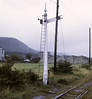 Manx Northern Rly signal, near Ramsey, 7 September 1974.  Photo by Les Tindall.