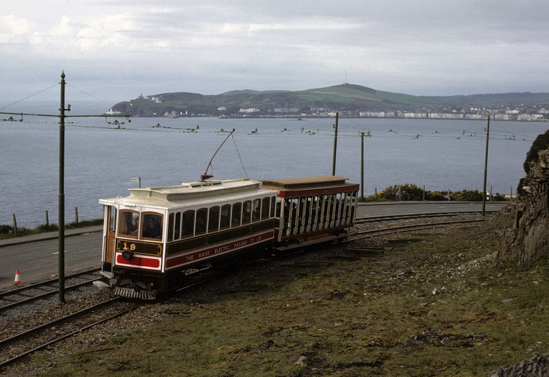 Manx Electric Rly No 19, Port Groudle, 26 May 1979.  Photo by Les Tindall.
