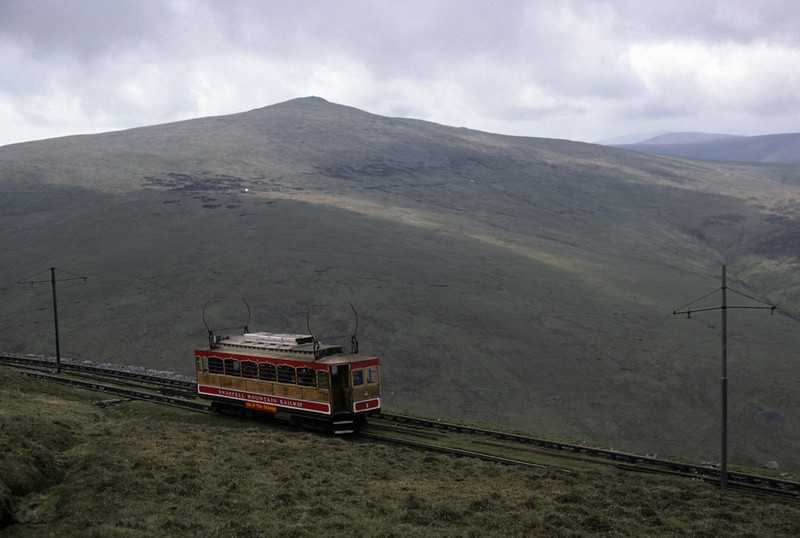 Snaefell Mountain Rly No 1, Snaefell, 26 May 1979. Photo by Les Tindall.
