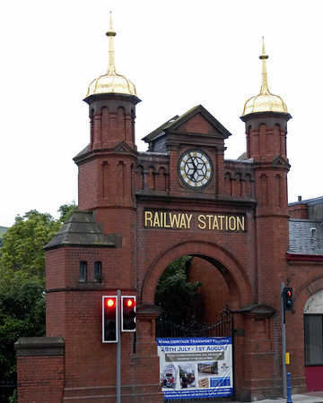 Douglas station, Fri 30 July 2010 1.      The imposing gateway, a reminder of the railway's past importance.