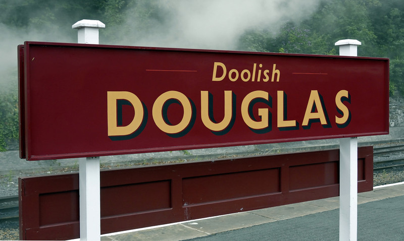 Douglas station, Fri 30 July 2010 3.      The station now shows its name in the Manx language, a recent innovation.