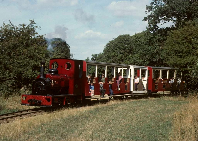 No 1, Knebworth Park & Wintergreen Railway, 23 August 1975 2.  Photo by Les Tindall.