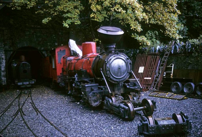 No 2, Gilfach Ddu, Llanberis Lake Railway, 6 October 1974.   Baldwin 4-6-2 61269 / 1930.  Iimported from Port Elizabeth, South Africa, and at the Brecon Mountain Railway in 2017.  Photo by Les Tindall.