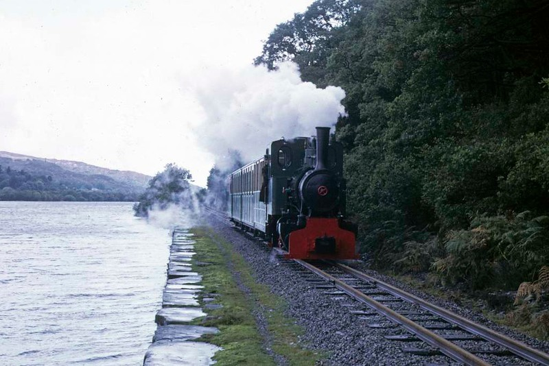 Cyclops, returning to Gilfach Ddu, Llanberis Lake Railway, 6 October 1974.  Photo by Les Tindall.