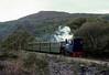 Helen Kathryn, Llanberis Lake Railway, 28 September 1975.  Heading bunker first to Gilfach Ddu.  Photo by Les Tindall.