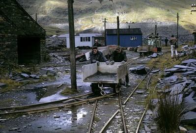 Llechwedd slate quarry, Blaenau Ffestiniog, 1974