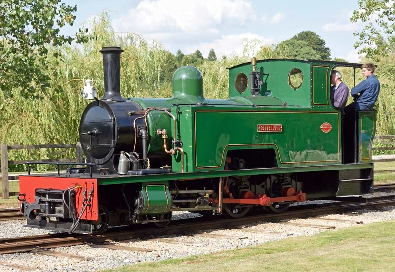 Isibutu, Statfold Barn Railway, Sat 8 August 2015.  Bagnall 4-4-0T 2820 / 1946, the other loco repatriated from the Tongaat sugar mill, Natal, South Africa.