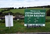 Lynton & Barnstaple Railway train times, Woody Bay, 8 September 2017.  One mile of track is open to Killington Lane halt.